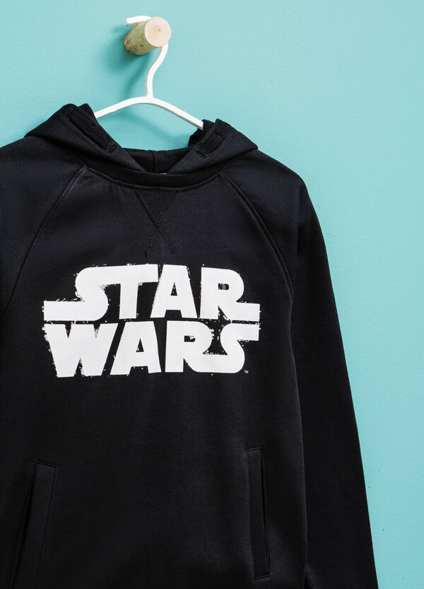 100% cotton hoodie with Star Wars print | OVS