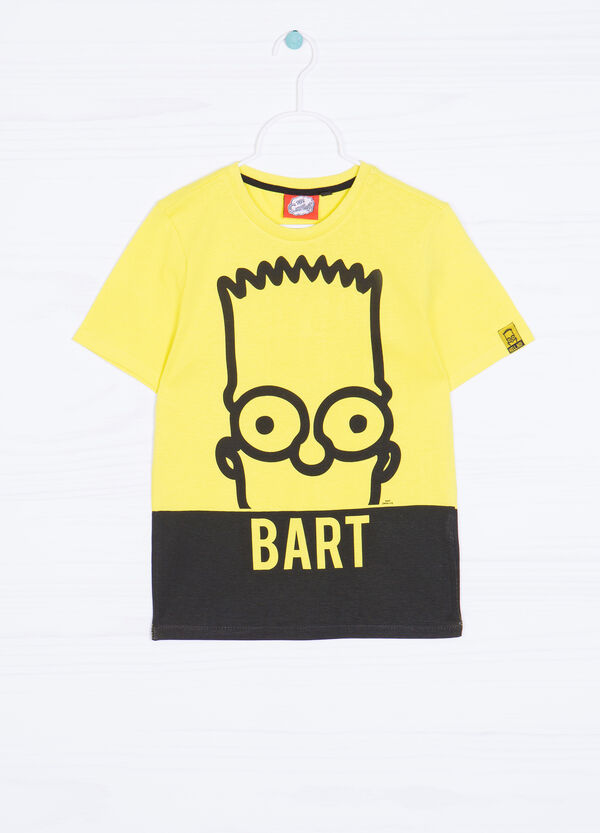 Bart themed print cotton T-shirt | OVS