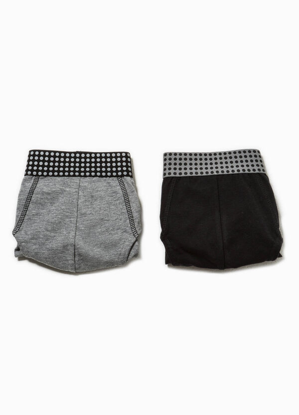Two-pack briefs with polka dot patterned waist | OVS