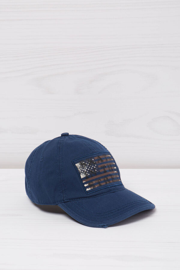 Printed cotton baseball cap | OVS