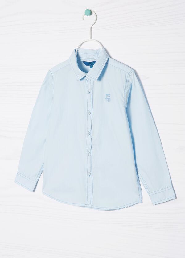 Camicia puro cotone con ricamo | OVS