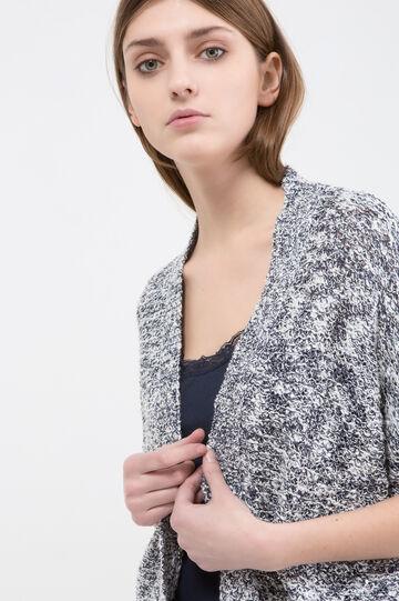 Cardigan misto cotone con paillettes, Blu, hi-res