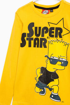 Cotton T-shirt with The Simpsons print, Yellow, hi-res