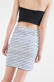 Stretch striped pencil skirt, White/Blue, hi-res