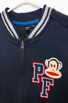 100% cotton sweatshirt with Paul Frank patch, Blue/Grey, hi-res