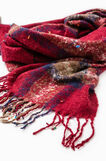 Check pattern scarf, Red, hi-res