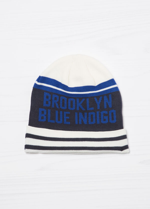 Printed knitted beanie cap | OVS