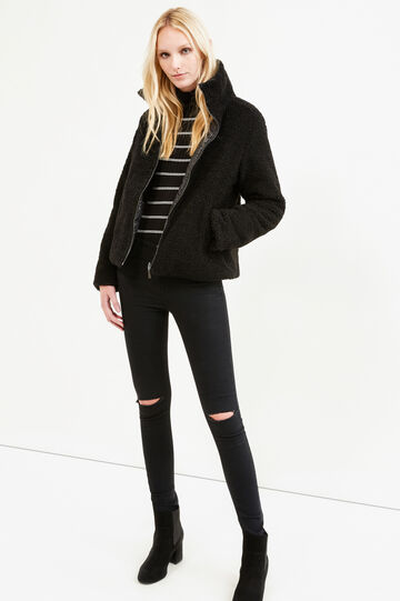 Solid colour double sided jacket, Black, hi-res