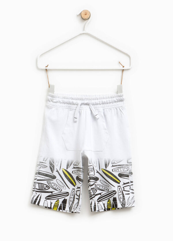 Patterned Bermuda shorts with pouch pocket | OVS