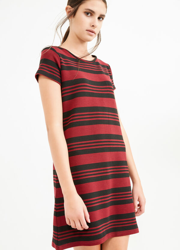 Short striped dress in viscose | OVS