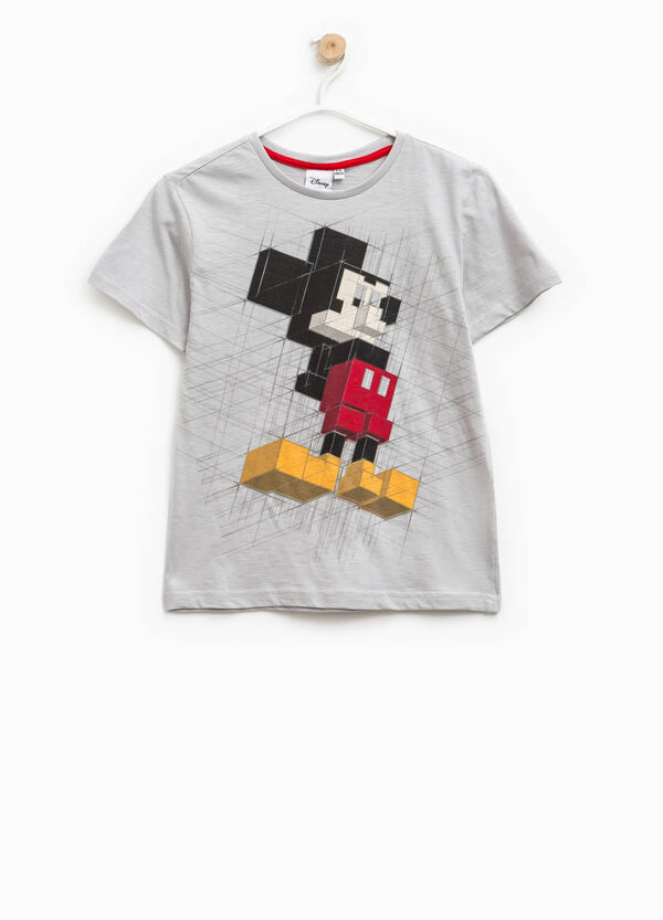 Mickey Mouse print cotton T-shirt | OVS
