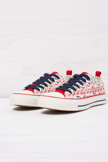 Low-top printed sneakers