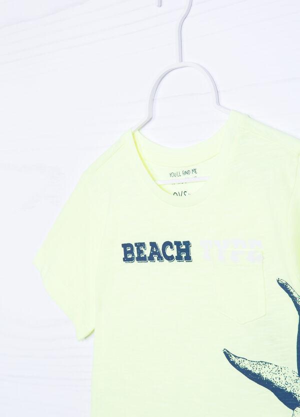 T-shirt cotone con stampa   OVS