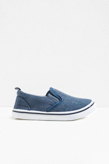 Slip-on in tela con suola in gomma