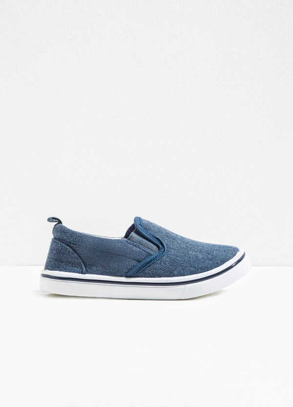 Slip-on in tela con suola in gomma | OVS
