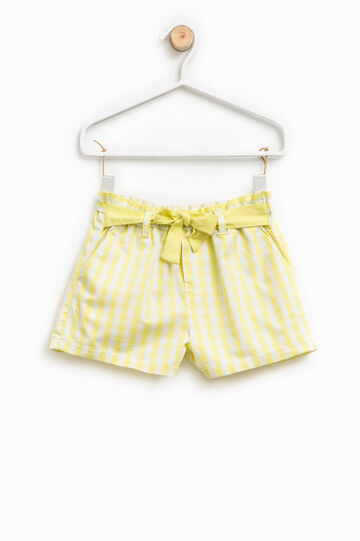 Check shorts in cotton