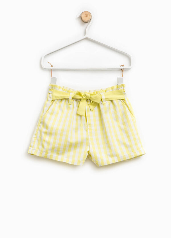 Shorts in cotone a quadri | OVS