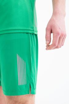 Shorts sportivi stretch tasca retro, Verde, hi-res