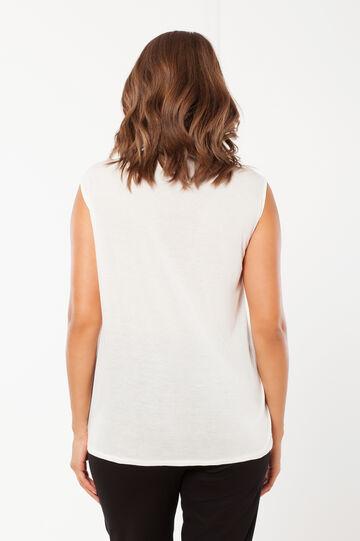 Curvy sleeveless top, White, hi-res