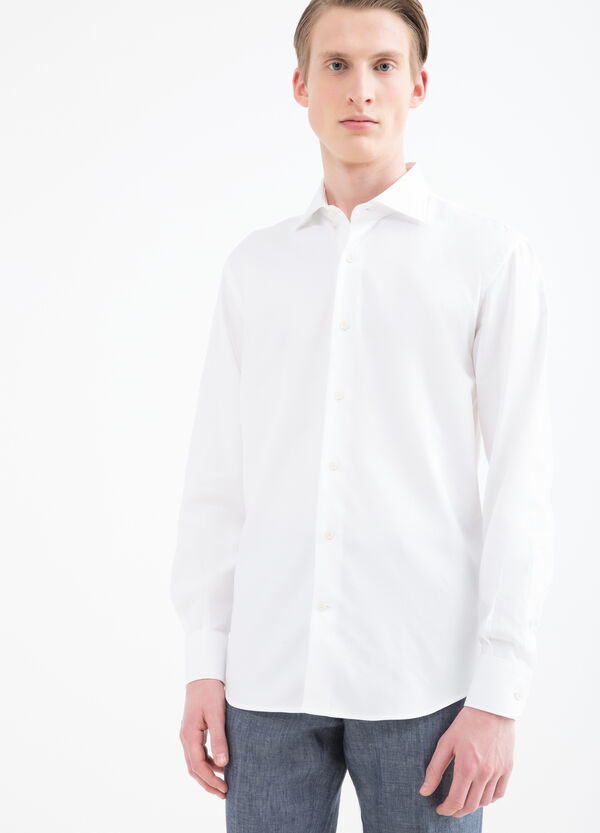 Camicia regular fit cotone tinta unita | OVS