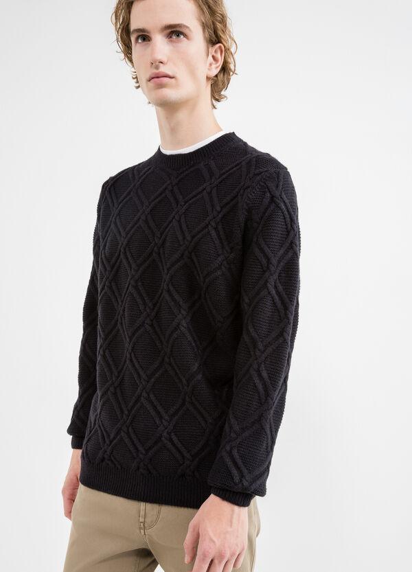 Jersey en punto tricot con cuello redondo | OVS