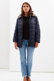 Curvy waterproof jacket, Dark Blue, hi-res