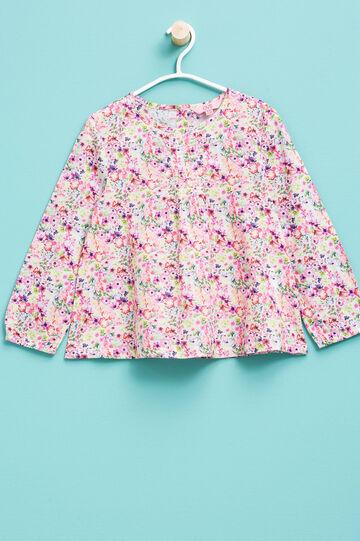 Camiseta en algodón 100% con estampado floral, Multicolor, hi-res