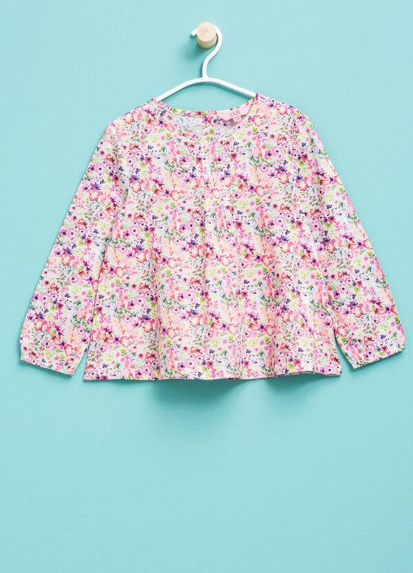 Camiseta en algodón 100% con estampado floral | OVS