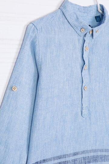 Camicia misto lino fantasia