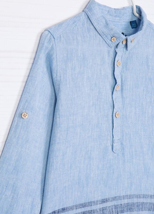 Camicia misto lino fantasia | OVS