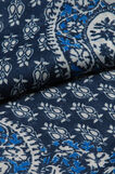 Printed scarf, Navy Blue, hi-res