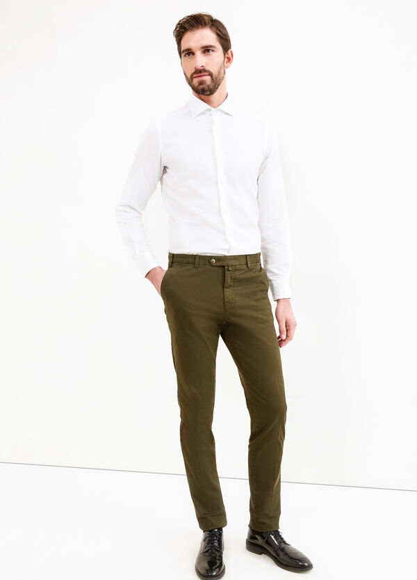 Stretch cotton Rumford trousers | OVS