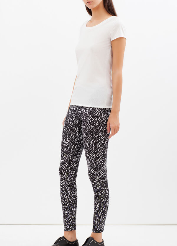 Stretch leggings with spots | OVS