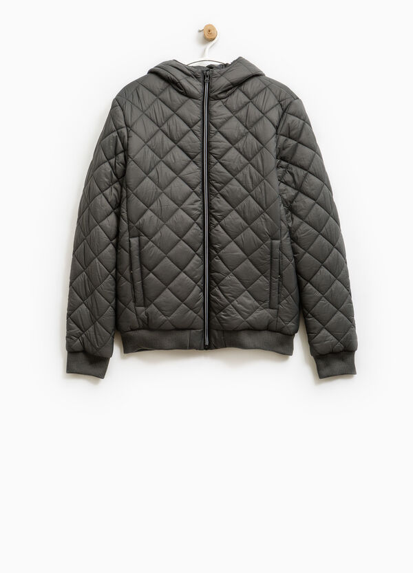 Quilted jacket with hood | OVS