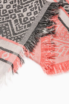 Scarf with ethnic pattern, Pink, hi-res