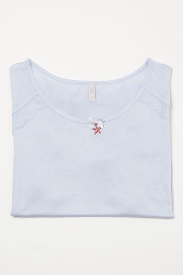 Viscose pyjama top with lace