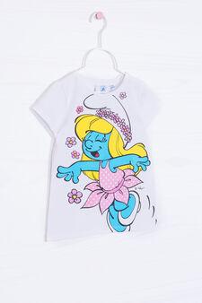 Stretch cotton Smurfette T-shirt, White, hi-res