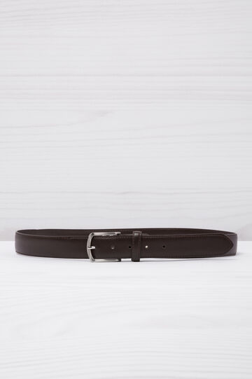 Cintura in similpelle tinta unita, Marrone scuro, hi-res