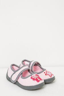 Pantofole chiusura con strappo, Rosa, hi-res