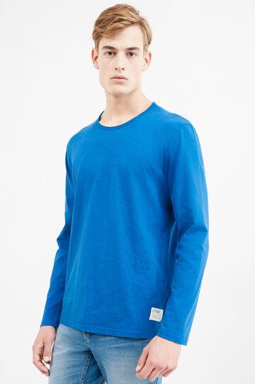Long-sleeved, printed T-shirt, Royal Blue, hi-res