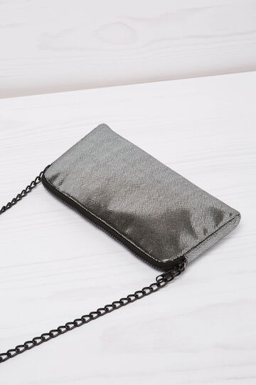 Snakeskin look shoulder bag, Grey/Silver, hi-res