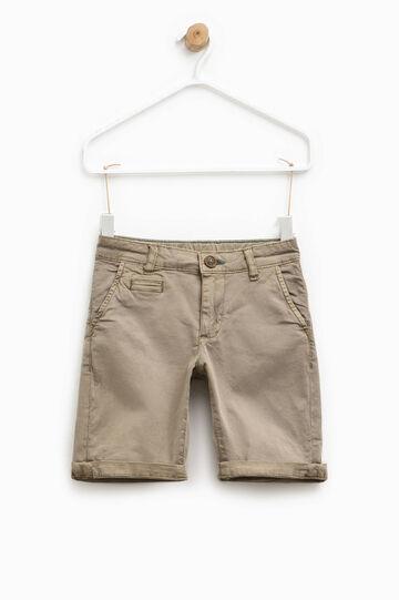 Stretch cotton chino Bermuda shorts