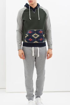 G&H hoodie with pouch pocket, Multicolour, hi-res