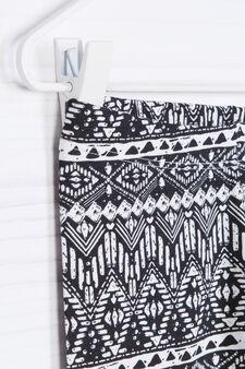 Printed stretch cotton leggings, White, hi-res