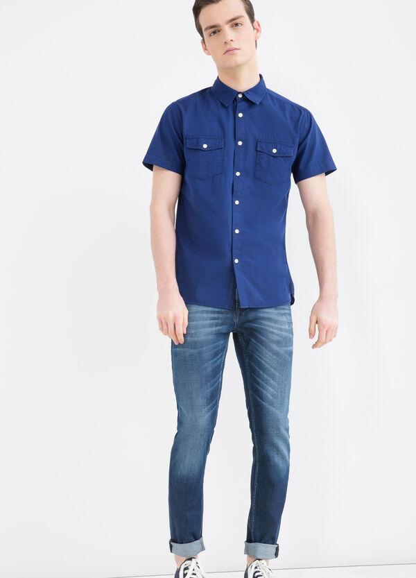 G&H solid colour cotton shirt | OVS