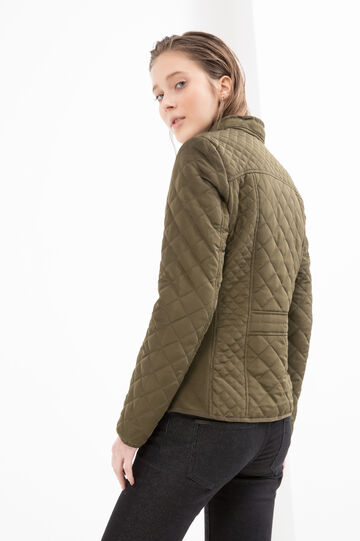 Quilted jacket with pockets, Green, hi-res
