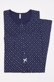 100% cotton nightshirt with polka dots, Navy Blue, hi-res