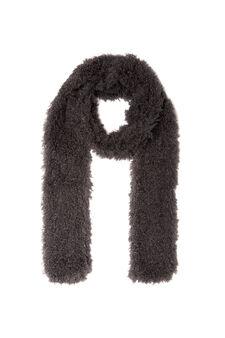 Faux fur scarf, Grey, hi-res