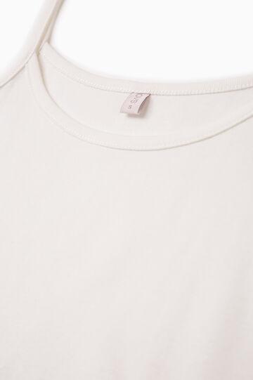 Solid colour cotton under top, White, hi-res