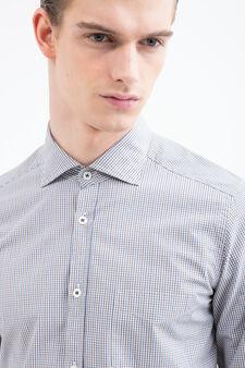 Rumford check cotton shirt, Beige, hi-res